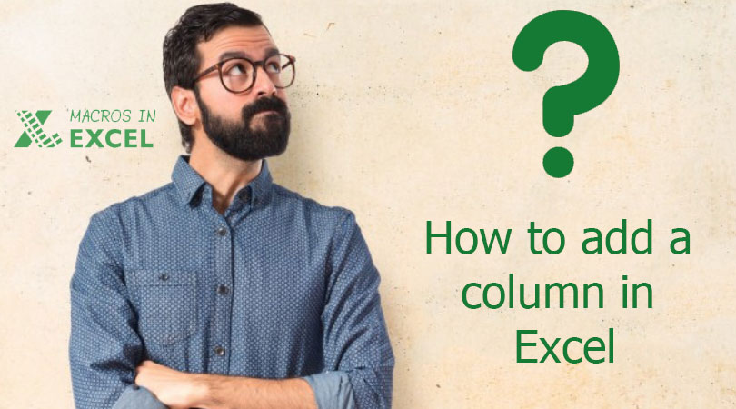 How to add a column in Excel?
