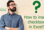 How to insert checkbox in Excel?
