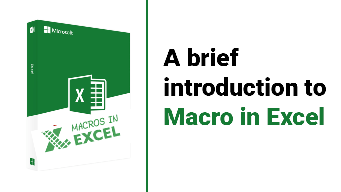 A brief introduction to Macros in Excel