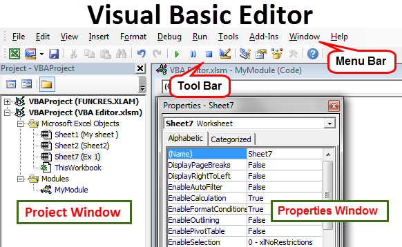 VBA: the interface