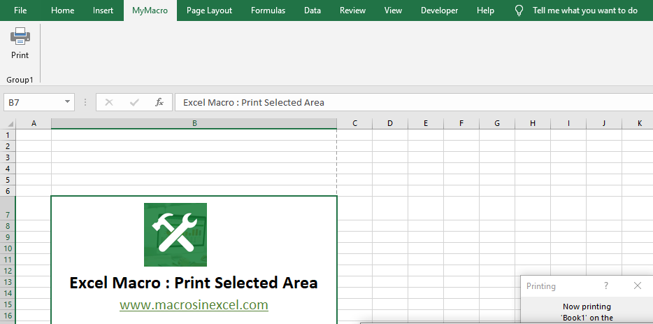 Print the Selected Area